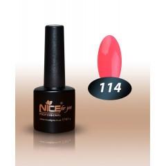 Гель-лак Nice for you № 114 (розово-коралловый) 8.5 мл