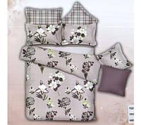Комплект постельного белья евро размер Цветы ,  постельное белье
