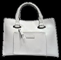 Стильная женская сумка из искусственной кожи David Jones белого цвета, BBN-101087