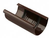Соединитель желобов водосточной системы Марлей (Marley) ,100 мм. Коричневый.Купить в  Запорожье
