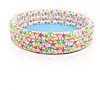 Бассейн детский  Intex  56440  «Цветочный» 168*38см***
