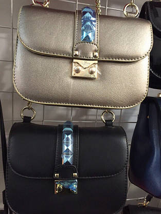Люкс-реплика Valentino мини черная, фото 3