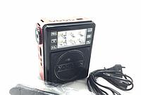 Портативная колонка радиоприемник с флешкой фонариком GOLON 198