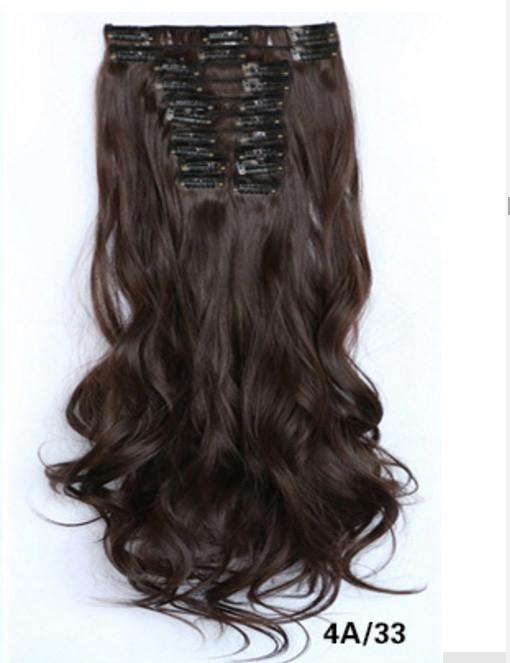 Купити накладні волосся з локонами не дорого 12 пасм довгі - 55 див.