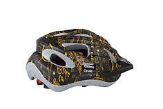 Шлем детский Green Cycle FAST FIVE размер 50-56см черно-золотистый