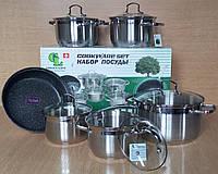 Набор посуды 12 пр Green Life GL-5012 T