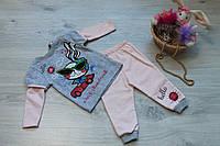 Трикотажный Костюм два предмета для девочки, Турция размер 1-3 лет