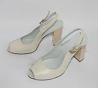 Женские босоножки на каблуке, натуральная кожа. Возможен отшив в других цветах кожи и замша, фото 1
