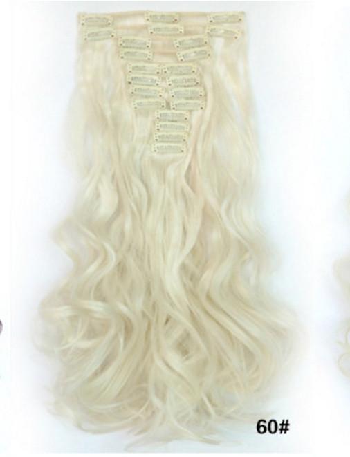 Накладные волосы с локонами не дорого 12 прядей длинные - 55 см. - Авокадос в Днепре