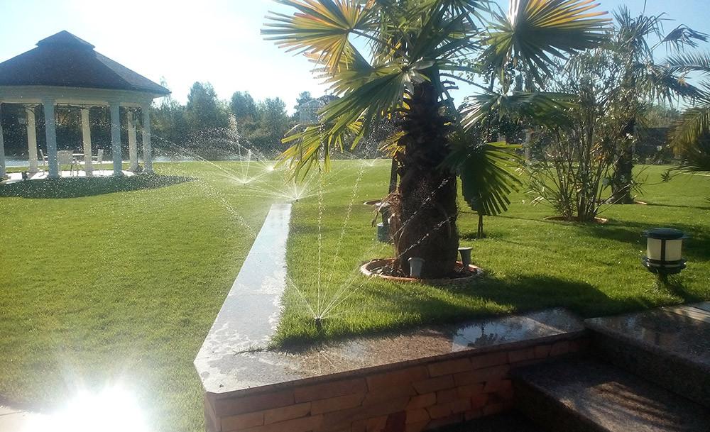 Система полива в Конче-Заспе