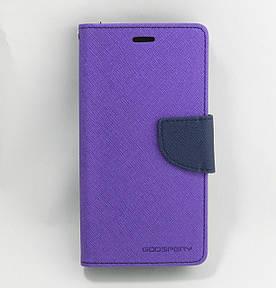 Чехол книжка для LG K7 X210DS боковой с отсеком для визиток, Mercury GOOSPERY, фиолетовый