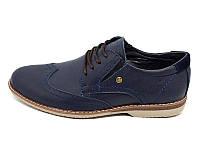 Мужские туфли натуральная кожа Multi Shoes Luxury rb-17 Blue р: 42 43 45