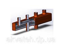 Распределительный коллектор для систем отопления на 2 контура ОКС-К-6-2НР OLE-PRO