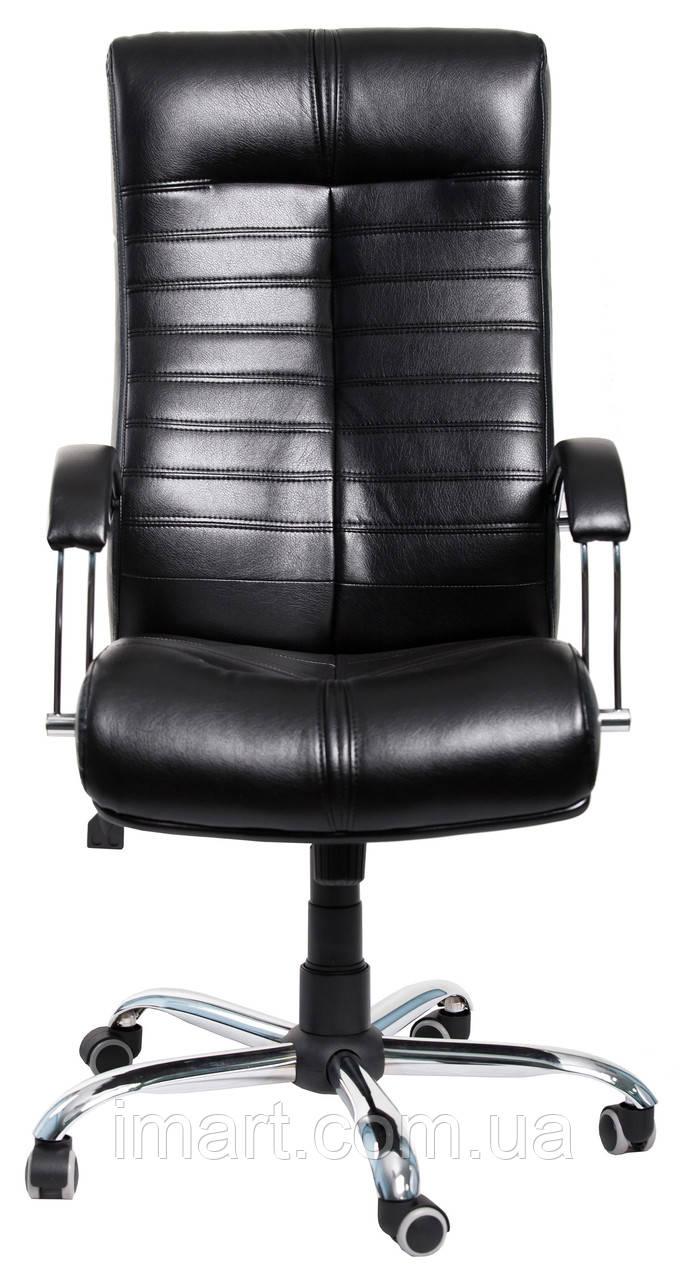 Кресло для руководителя Орион хром Кожа-Люкс  комбинированная