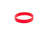 Силиконовые браслеты с логотипом красный