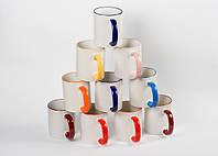 Ассорти чашек с цветным ободком 36 шт