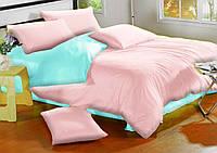 Евро комплект постельного белья микрофибра Pink, Ice