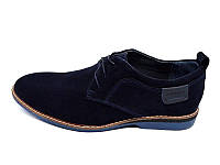 Мужские туфли нат. кожа замш Van Kristi Blue Наличии размера: 41 42 43 44 45