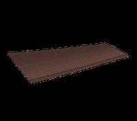 LUXARD Ребристый желобок для обустройства ендовы, коричневый, 1600х500 мм, (0,8 кв.м)