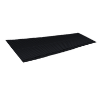 LUXARD Ребристый желобок для обустройства ендовы, чёрный, 1600х500 мм, (0,8 кв.м)
