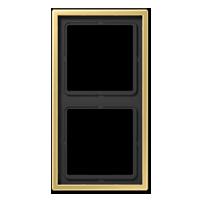 Рамка 2-я Jung LS 990 латунь Classic