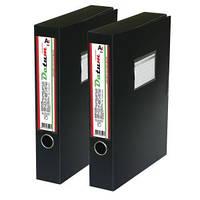 Папка-коробка  A4 DATUM  5см D1808 на липучке, черная