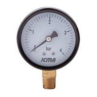 """Манометр 1/4"""" (0 - 10 bar) ICMA арт.244"""