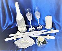 Аксессуары для свадьбы в комплекте, цвет айвори или белый