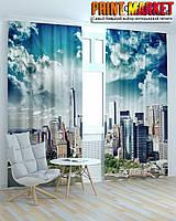 Фотошторы облака над Нью Йорком