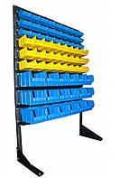 Стелаж-стійка для метизних ящиків односторонній 1500мм 72 ящика