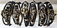 Кожаный браслет-феничка микс