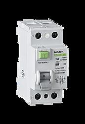Диференційний вимикач, Icn=6kA, 2 полюси, In=40A, IΔn=300mA, тип AC
