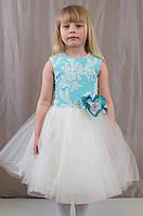 Нежное короткое пышное бальное платье для девочек, р. 122-134