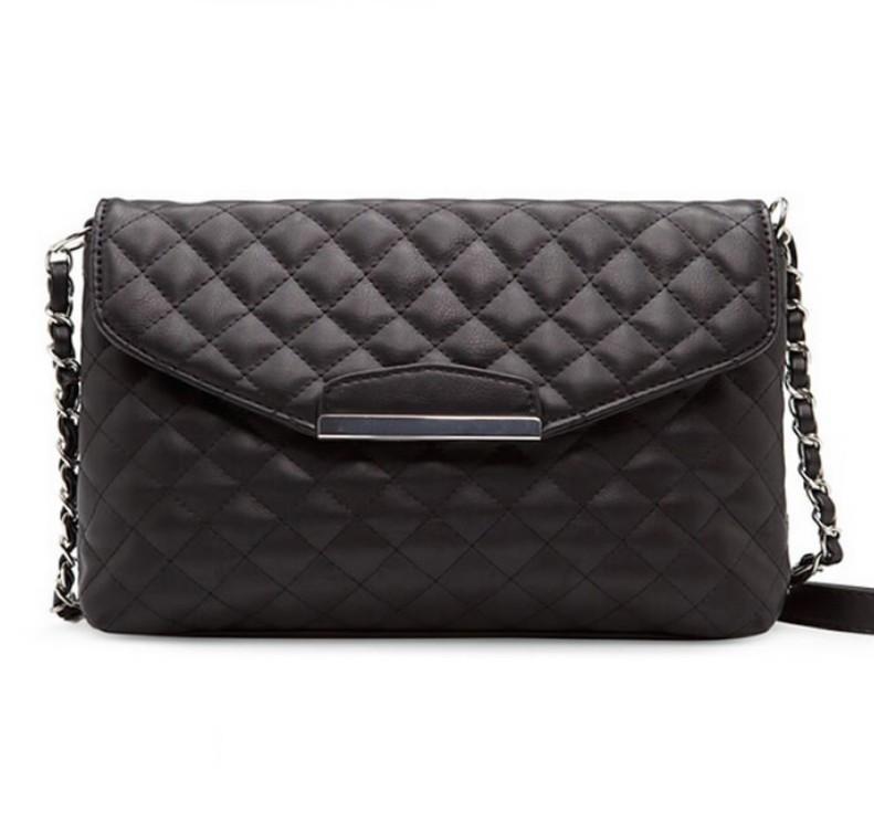 Женская мини сумка через плече 2020, клатч женский черный на цепочке,  AL-6896-10
