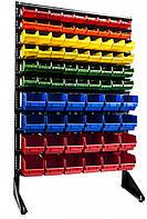 Стелаж метизний торгово-складський 1500мм 78 ящика