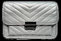 Модная женская сумочка из искусственной кожи серебристого цвета, XLJ-500998