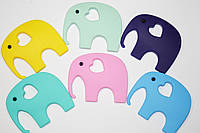 Силиконовые грызунки Слон, мятный