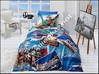 Комплект постельного белья 3D сатин Holiday First Choice Турция