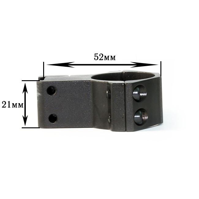 Кріплення на зброю для ліхтаря 25mm Ring Double (Байонет 9 мм)