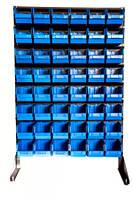 Стелаж торговий для метизних ящиків односторонній 1500мм 48 ящиків