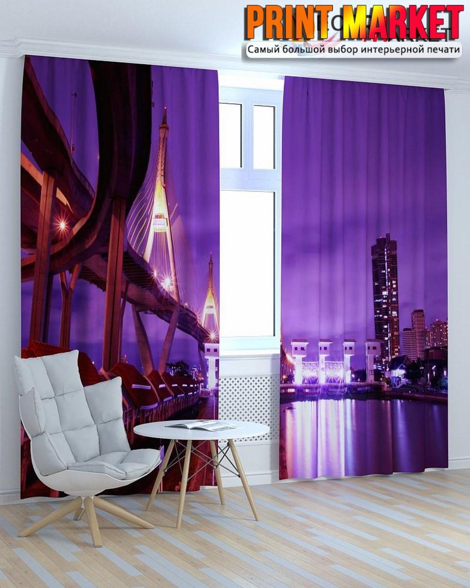 Фотошторы фиолетовый мост