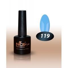 Гель-лак Nice for you № 119 (яскраво-блакитний) 8.5 мл