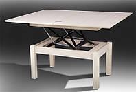 Стол трансформер журнально - обеденный Флай дуб молочный, фото 1