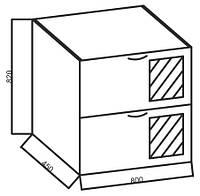 Нижние модули к кухне «Ваниль», 800 НВЛ Мет/ящ