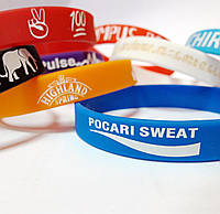 Силиконовые браслеты с Вашим логотипом, печать лого на силиконовых браслетах