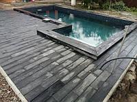 Террасная плитка 600х150 мм, графит