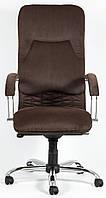 Кресло для руководителя Никосия хром к/з Мадрас/Титан/Тиффани/Велюр