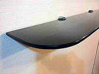 Полка стеклянная прямая 6 мм чёрная 60 х 12 см
