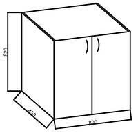 Нижние модули к кухне «Ваниль», 80Н-Дв