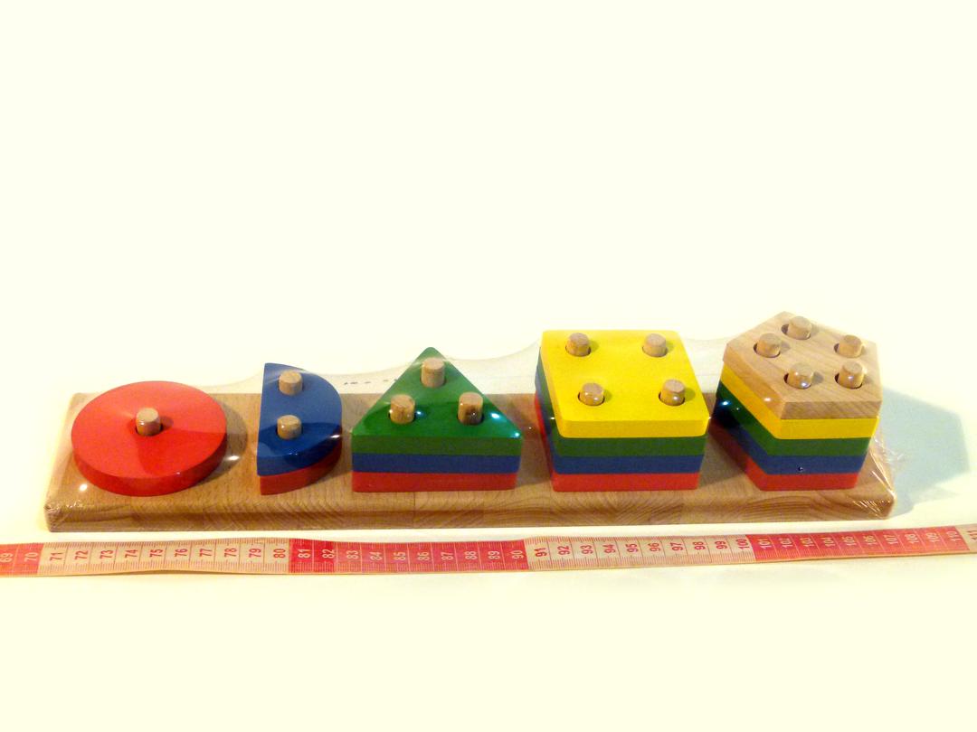 Деревянная игрушка Геометрик 5 фигур Розумний лис (90009)